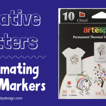 Featured image for blog post on sublimating with markers