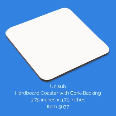 Unisub Square Cork-Backed Coaster
