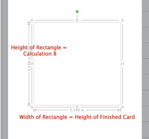 Screenshot of rectangle in Silhouette Studio