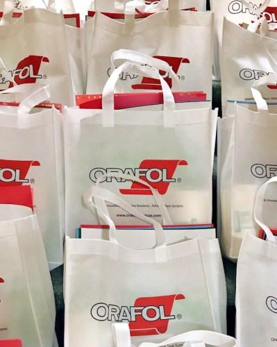 Orafol goody bags.