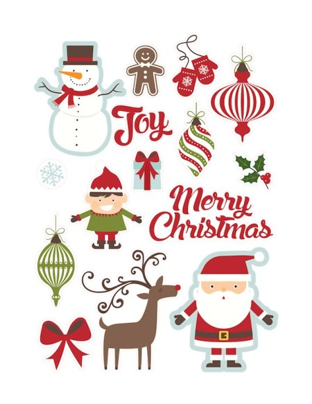 Christmas Stickers by Lori Whitlock (Silhouette Design Store)