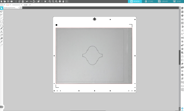 Screenshot of PixScan import to Silhouette Studio