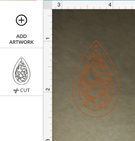 Patterned earring design for Glowforge