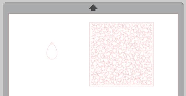 Screenshot of earring and pattern shape in Silhouette Studio