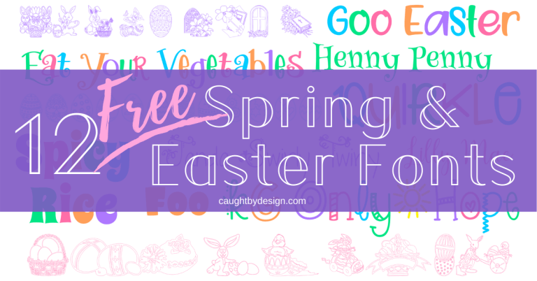12 Free Spring & Easter Fonts