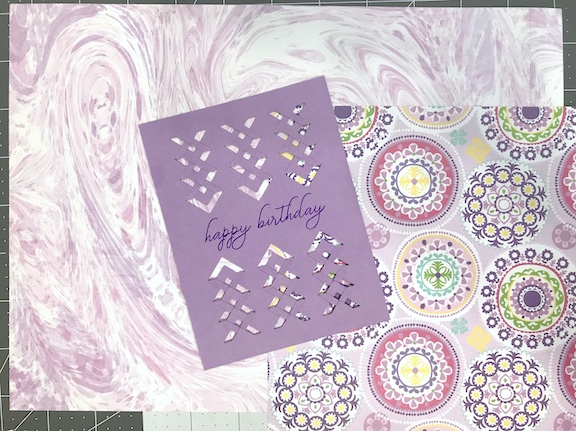 Combining pattern paper with solid cardstock