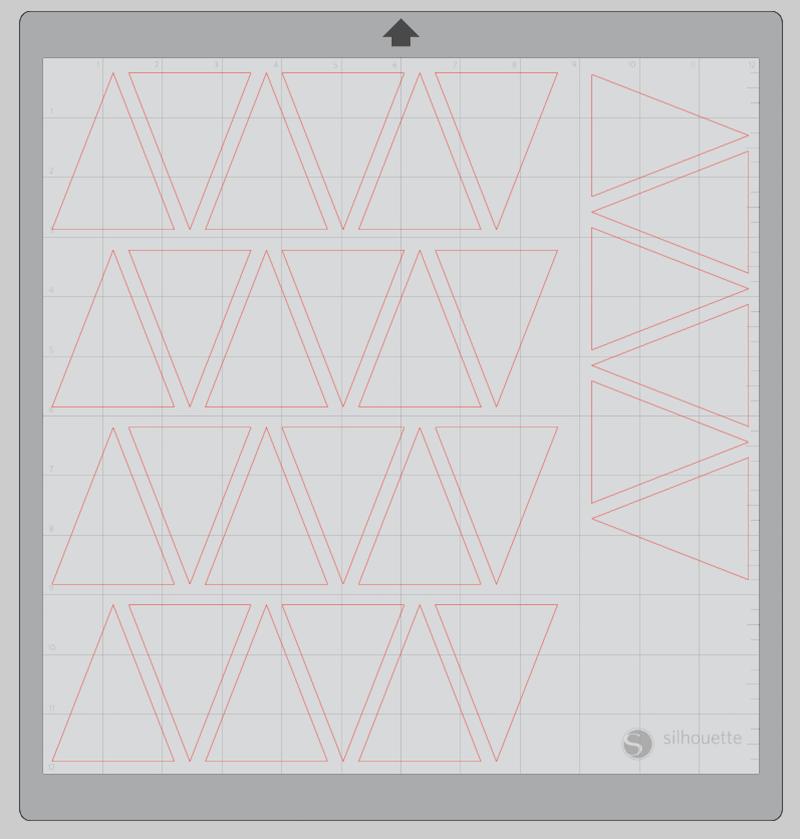Advent Calendar box faces in Silhouette Studio