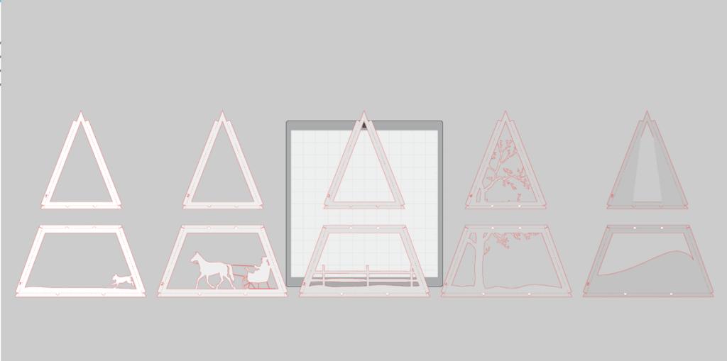Advent Calendar background in SIlhouette Studio