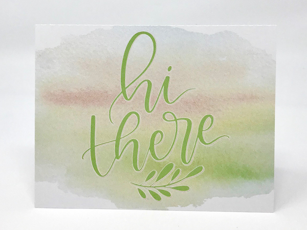 Print & Cut Watercolor Notecard