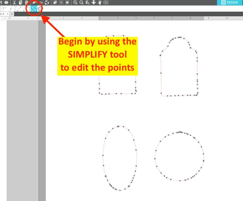 Silhouette Studio Point Editing Simplify Tool