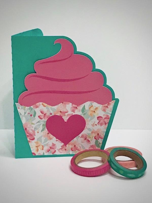Print & Cut cupcake card