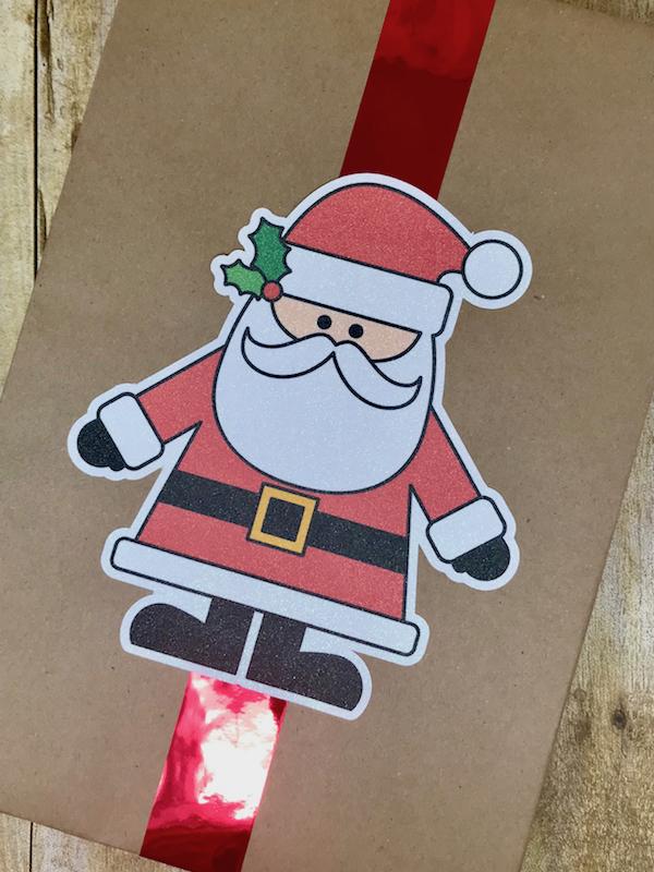 Silhouette Print & Cut Gift Wrap Glitter Sticker