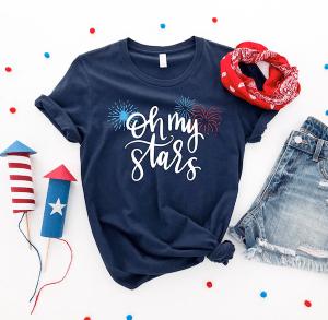 Oh My Stars Patriotic SVG
