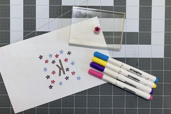 Stamped design for sublimation