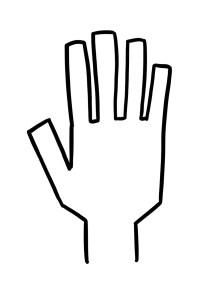 De beaux doigts carrés