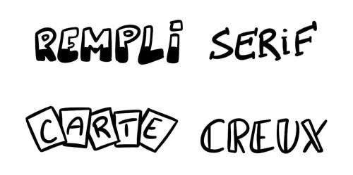 Différentes écritures dans un sketchnote