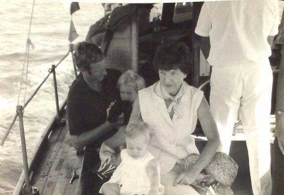 That's me on my Dad's lap and my little sister on Nana's lap