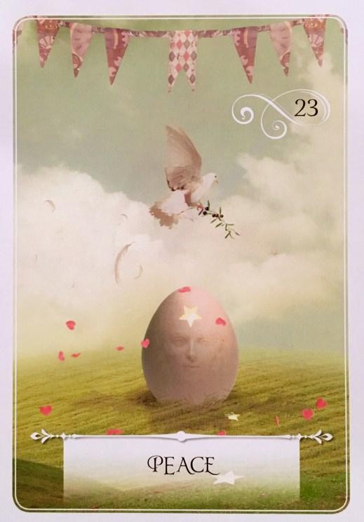 Peace oracle card