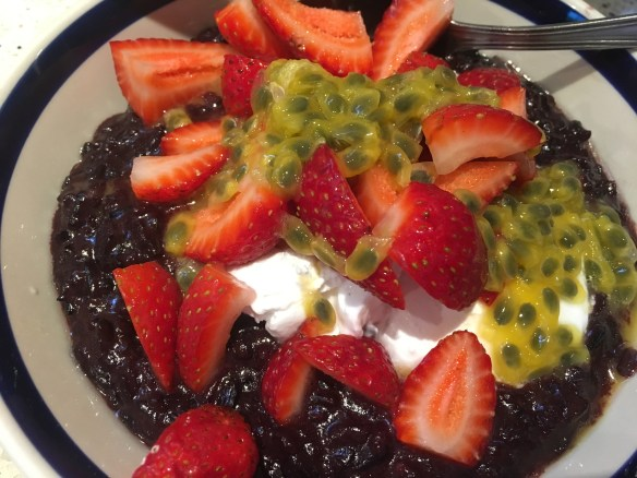 black sticky rice