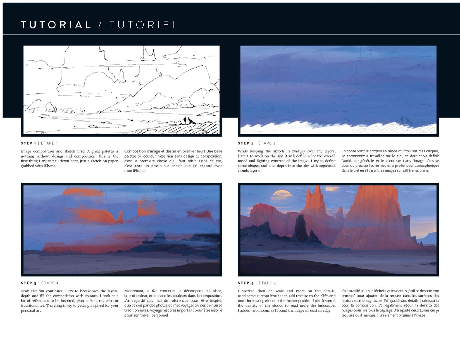 Extrait de Worlds de Raphael Lacoste. Tutoriel art numérique (désert).