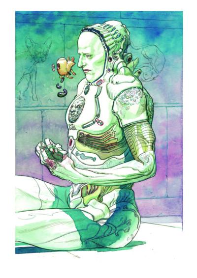 Jaouen Salaun illustre ses rêves étranges dans son Dreambook.