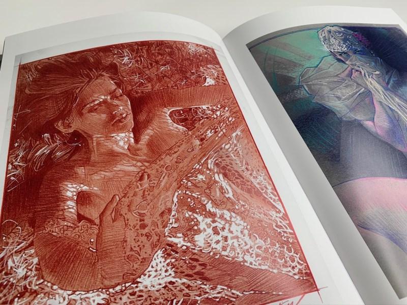 Muse : exploration of the female form par James Martin. Dessins de femmes en couleur.