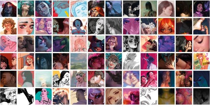 Le livre Hardcover. Cet artbook érotique est un recueil d'œuvres réalisées par un collectif d'artistes.