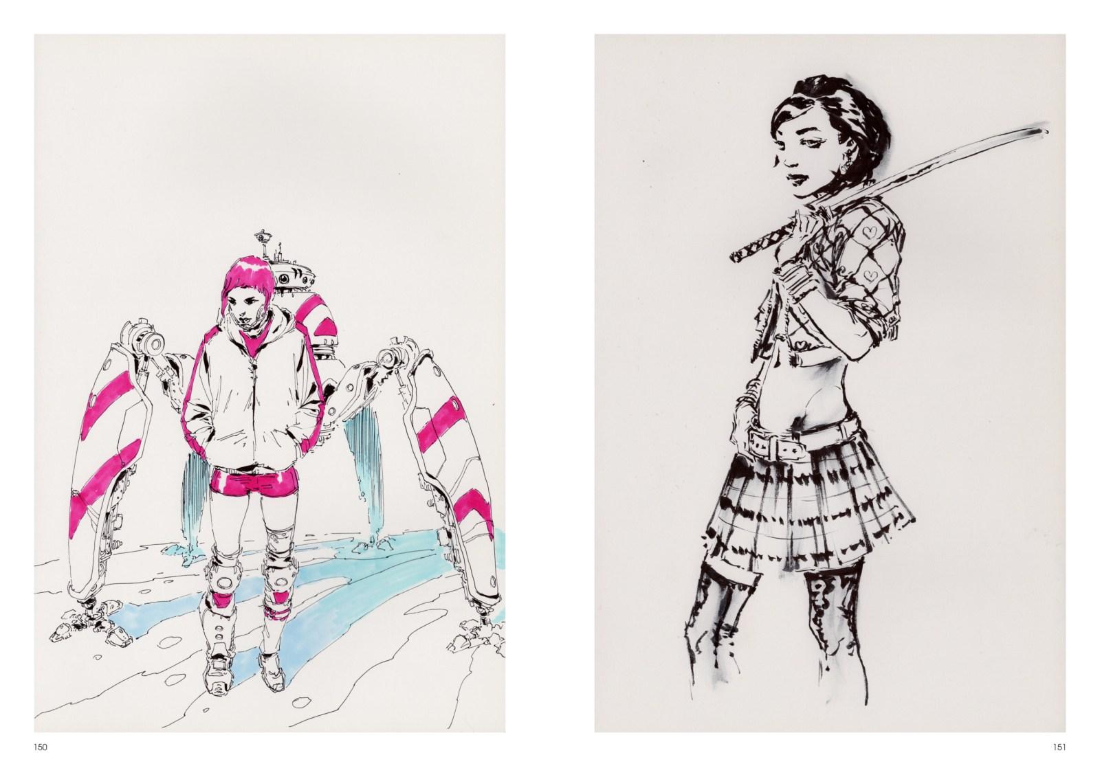 Image de l'artbook Daya de Daniel Landerman. Badass girls.