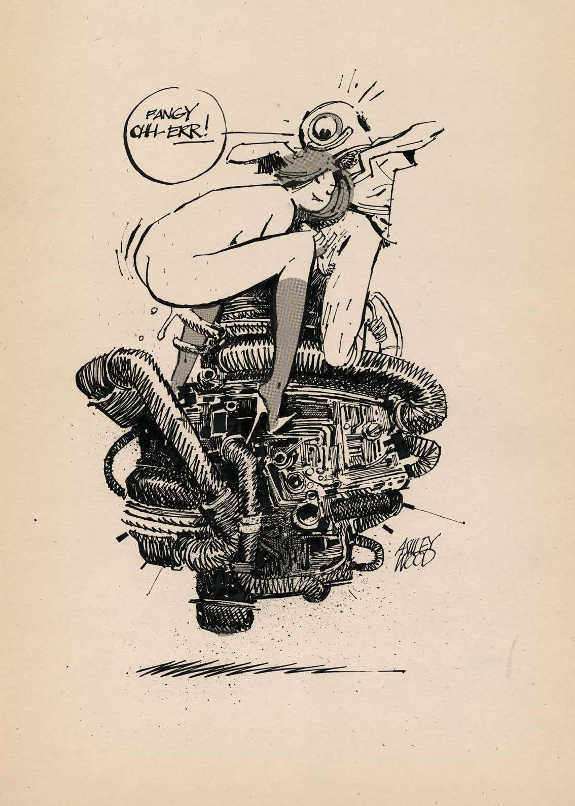 L'artbook Ashley Wood - AWD XL BLACK. Sexe et moteur, la mécanique physique.