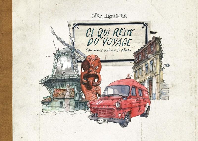 Couverture de l'artbook de Jörg Asselborn. Souvenirs vécus et rêvés.