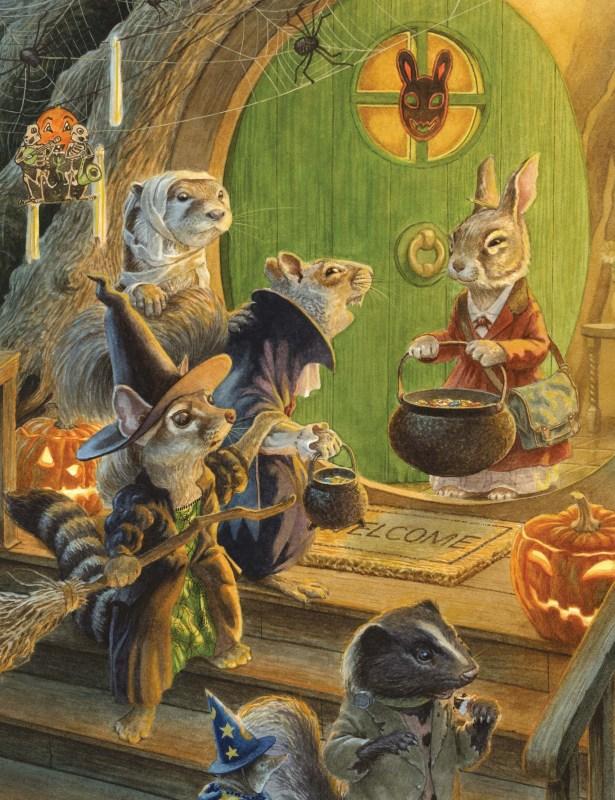 Les personnages de Léa Lapin fêtent Halloween !