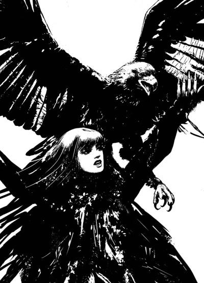 Illustration de Circé la magicienne avec un aigle