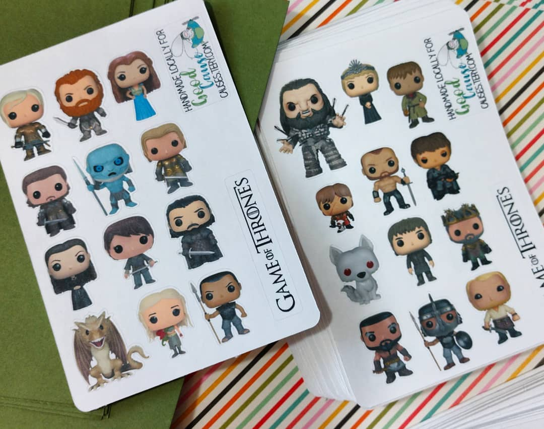 I love Game of Thrones. So much so that if you find me and tell me who your favorite character is (and why, OBVS!), you'll get some of these