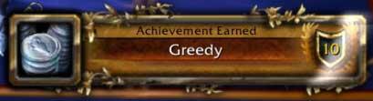 "World of Warcraft ""Greedy"" Achievement"