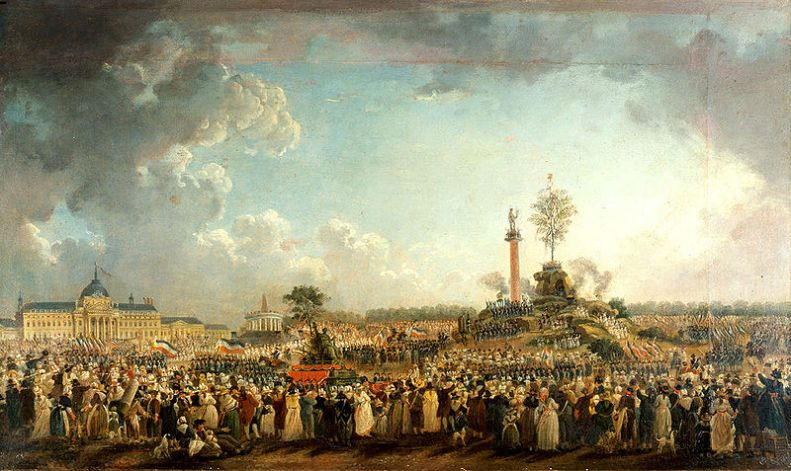 The Festival of the Supreme Being, by Pierre-Antoine Demachy (1794)