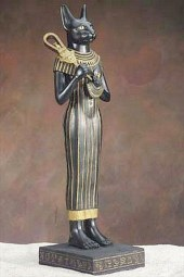 bast or bastet egyptian cat goddess