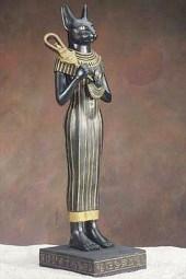 bast or bastet egyptian cat goddess