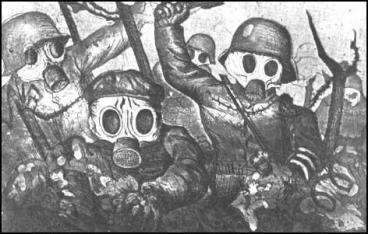 trench warfare gas attack