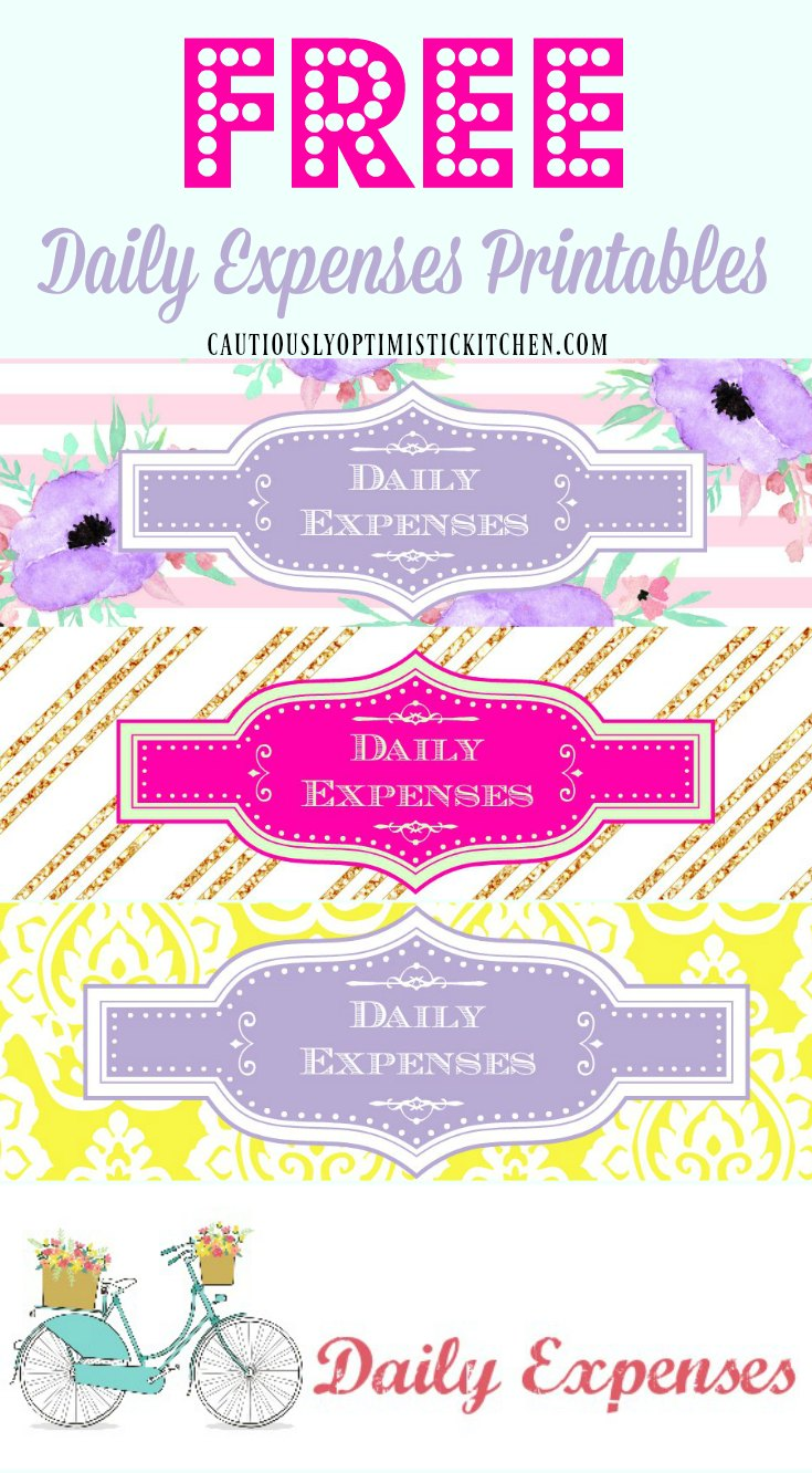Get your free cute daily expense printables at cautiouslyoptimistickitchen.com!
