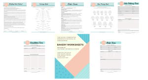 Printable forms, policies, contracts for your home or retail bakery.