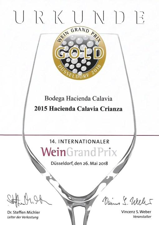 Wein Grand Prix Gold Gewinner