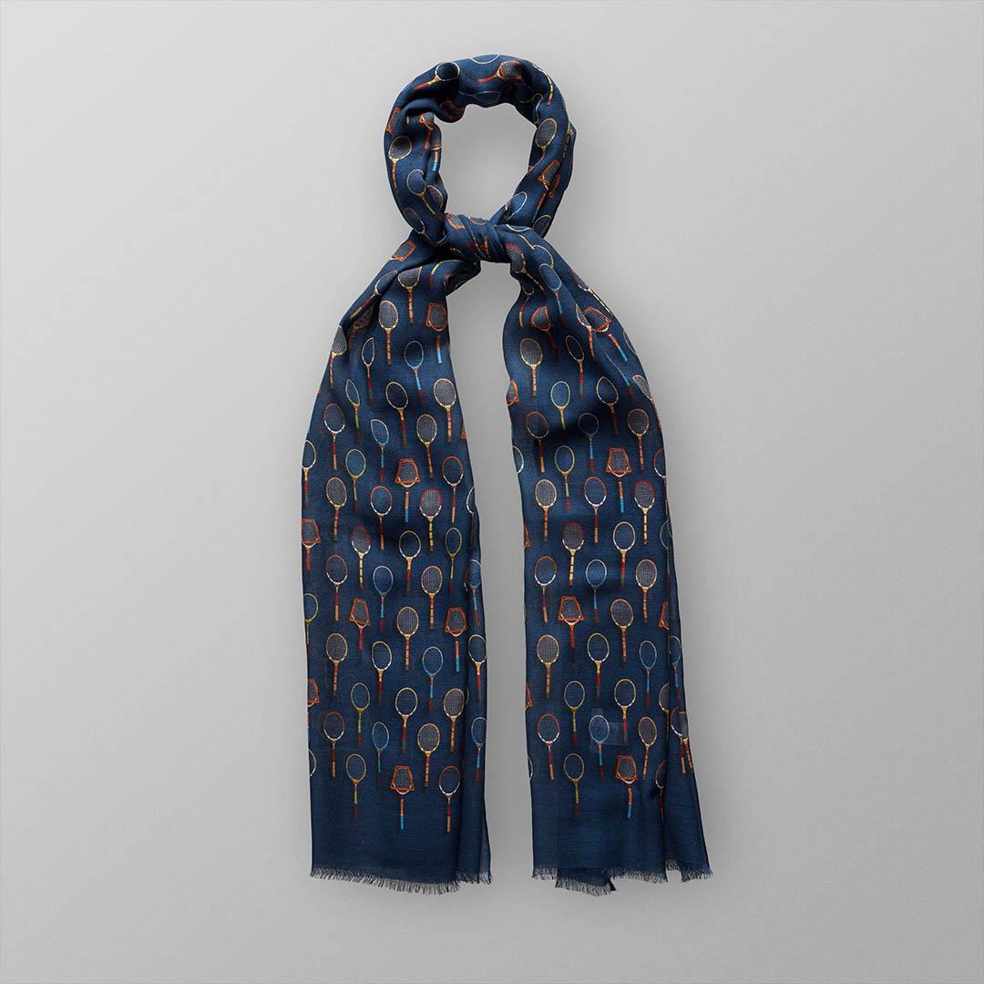 tennis racket modal wool scarf 2