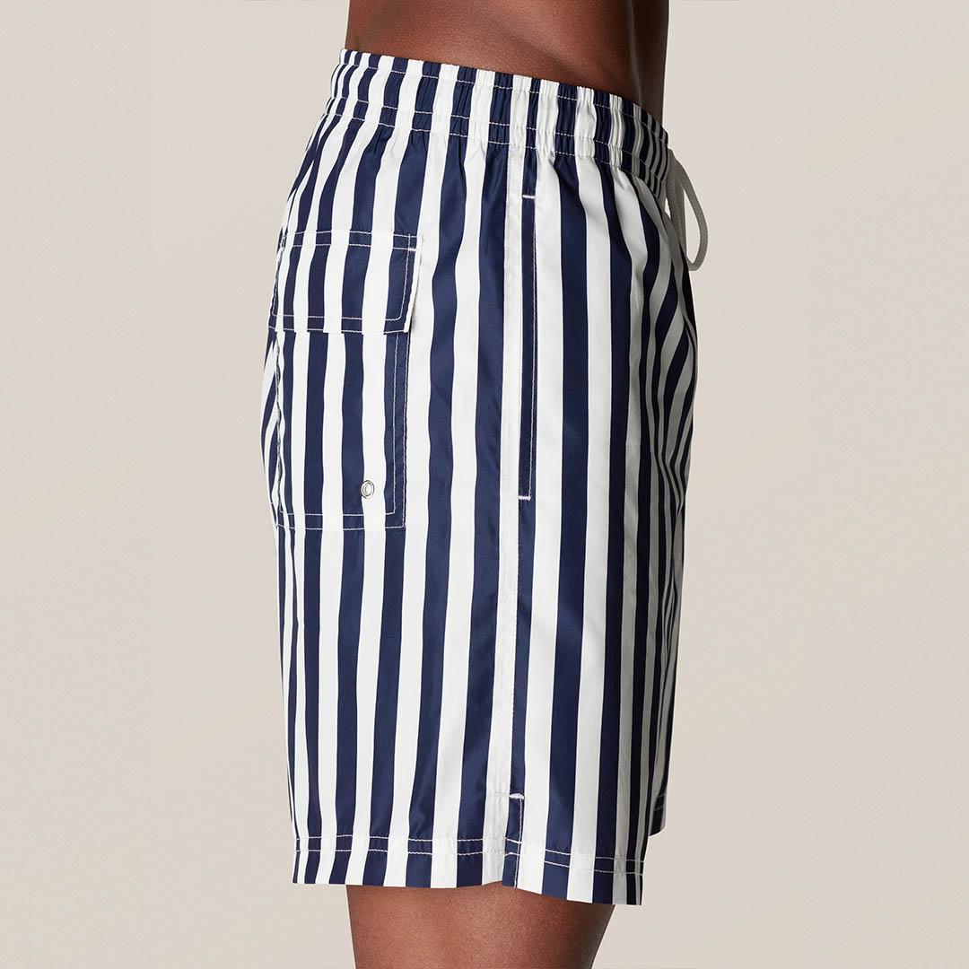 blue stripes swim short b