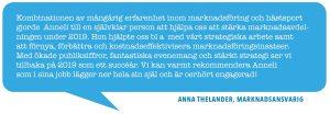 Anna Thelander, marknadsansvarig Jägersro