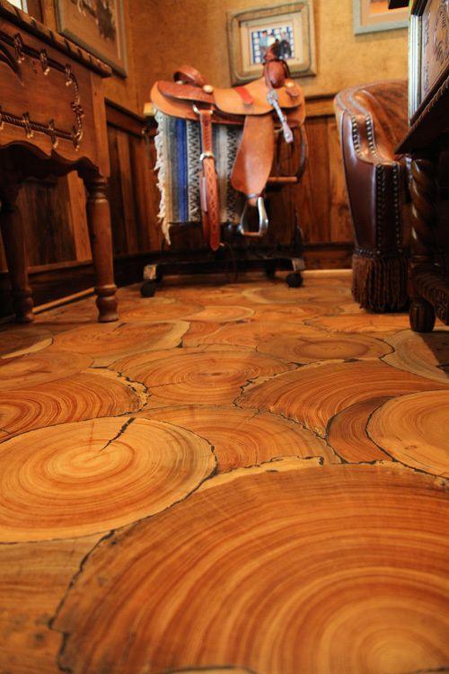Troncos de árvores rústicos para mudar sua casa