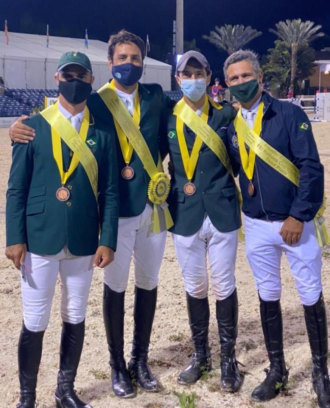Foi a primeira Copa das Nações do ano para o Time Brasil de Salto e aconteceu durante o CSIO4* no Winter Equestrian Festival, na Flórida