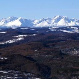 Výhľad na štíty Vysokých Tatier