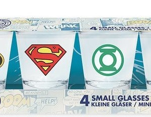 Set de 4 Verres à liqueur DC Comics