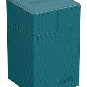 Ultimate Guard boîte pour cartes Flip´n´Tray Deck Case 100+ taille standard XenoSkin™ Bleu Pétrole