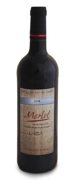 Vin Merlot élevé en fût de chêne